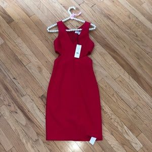 NWT Elizabeth & James Red Aldridge Dress 0
